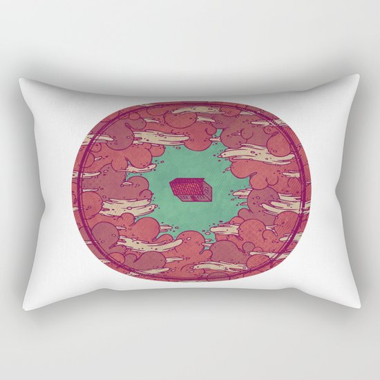 Away from Everyone Rectangular Pillow