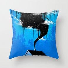 Black Smoke Throw Pillow
