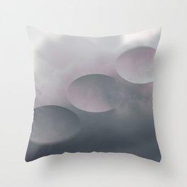 Pink Tilt Shift Ovals Throw Pillow