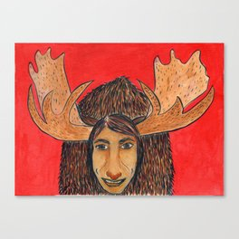Spirit Animal Moose Canvas Print