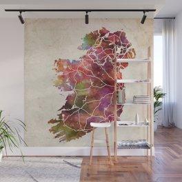 Ireland map Wall Mural