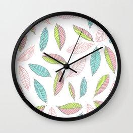 Bright Falling Leaves Wall Clock