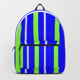 CLASSIC RETRO BLUE AND GREEN STRIPES Backpack