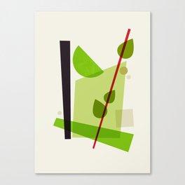 Cocktail V Mojito Canvas Print