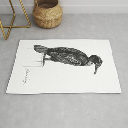 Double-crested Cormorant Rug
