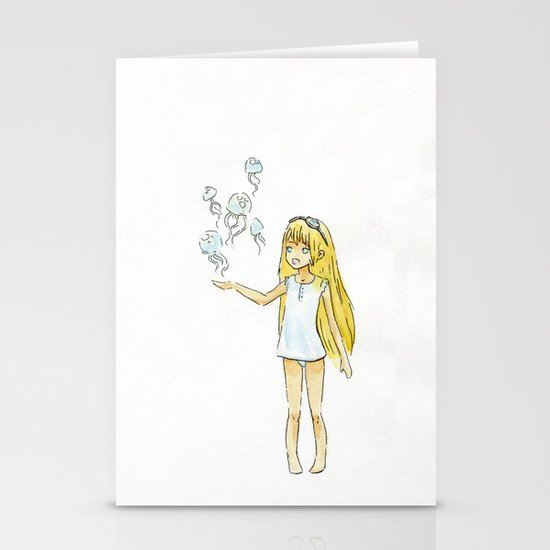 Jellyfish Girl Stationery Cards