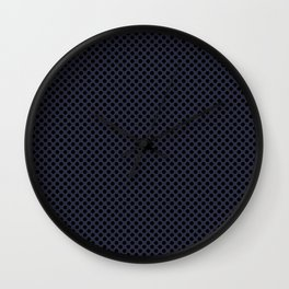 Peacoat and Black Polka Dots Wall Clock