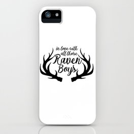 Love Those Raven Boys iPhone Case