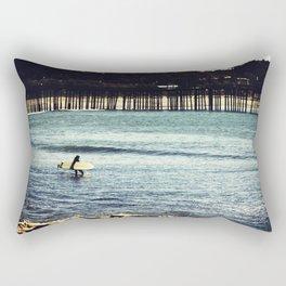 Longboard Pier Rectangular Pillow