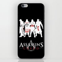 assassins creed iPhone & iPod Skins featuring Assassins by Pixel Design