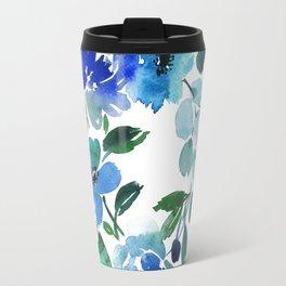 65. Flower Painting, Watercolor Flowers, Flower Art, Watercolor Flower Painting, Floral, Home Office Travel Mug
