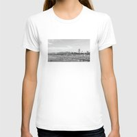 santa monica T-shirts featuring Santa Monica Beach by Morgan Cadigan
