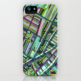 Abstract Map- Davis Square, Somerville MA iPhone Case