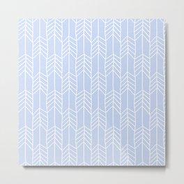 Arrows in Blue Metal Print