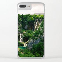 veliki slap waterfall 1 plitvice lakes national park croatia blockbuster Clear iPhone Case