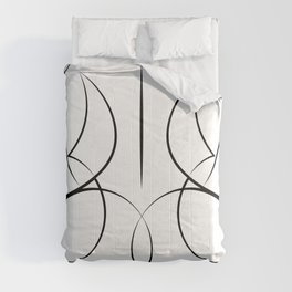 Female Form Reverse in black & white Comforters