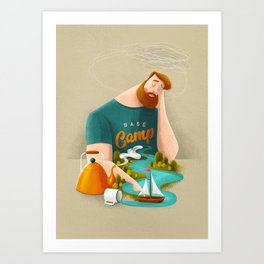 Base Camp Art Print