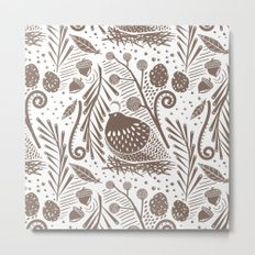 California Quail (Cocoa) Metal Print