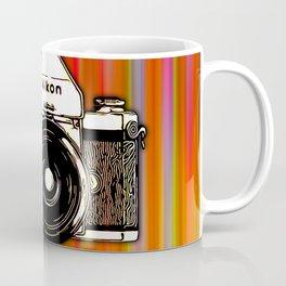 Nikon F on color background Coffee Mug