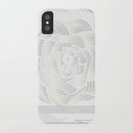 Big White Rose iPhone Case