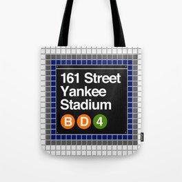 subway yankee stadium sign Tote Bag