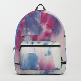 Ice river morning Backpack
