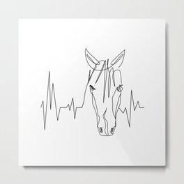 Horsebeat [Black] Metal Print