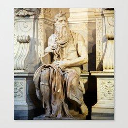 Michelangelo's Moses Canvas Print