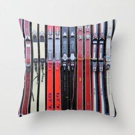 Skis with Bindings Throw Pillow