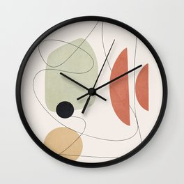 Minimal Shapes No.50 Wall Clock