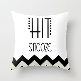 Hit Snooze Throw Pillow