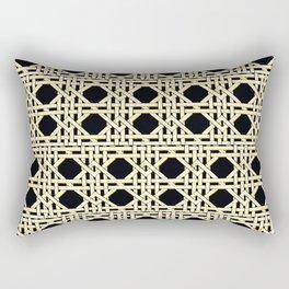 trellis glamazon in black Rectangular Pillow