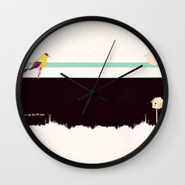When the night falls quiet. Wall Clock