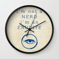 divergent Wall Clocks featuring NERD? ERUDITE - DIVERGENT by MarcoMellark