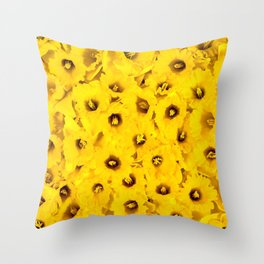 Daffodils pattern Throw Pillow