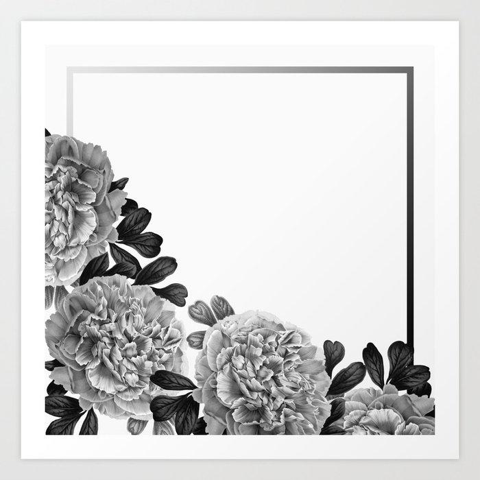 Flowers in the morning Art Print
