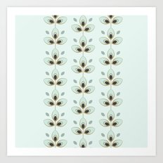 Mint Blossoms Art Print