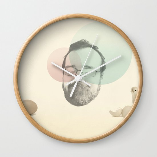chicken and the egg Wall Clock