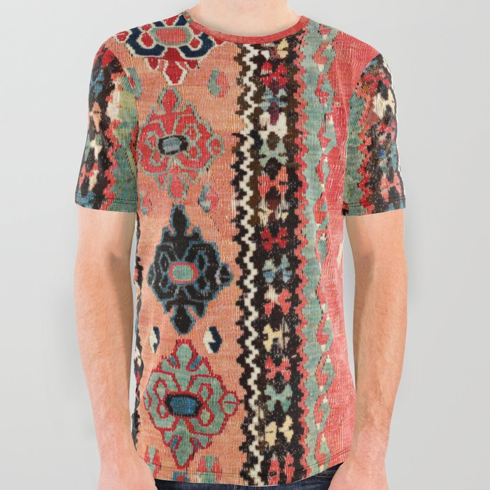 Sivas  Antique Cappadocian Turkish Niche Kilim Print All Over Graphic Tee