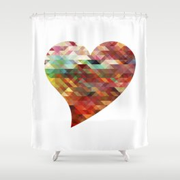 Heart No. 2 Shower Curtain