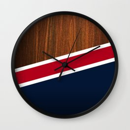 Wooden New England Wall Clock
