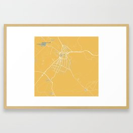 Minimalist Modern Map of Kirkuk, Kurdistan, Iraq 3 Framed Art Print
