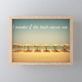 Beach Therapy Framed Mini Art Print
