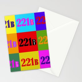 221B Color Block Stationery Cards