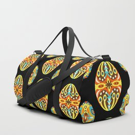 Vintage Easter Egg Pattern Hungarian Design Style Ornament Duffle Bag