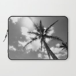 Tropical Palm Trees Black and White Laptop Sleeve