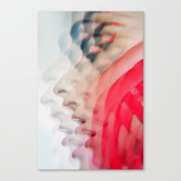 Modern Red Lines Canvas Print