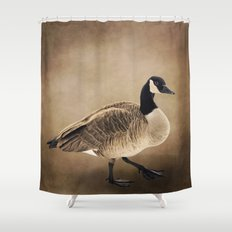 Canada Goose Portrait Shower Curtain