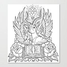 Information Antelope - Black Lines Canvas Print
