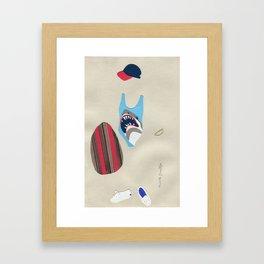 Shark Bathing Suit Outfit Framed Art Print